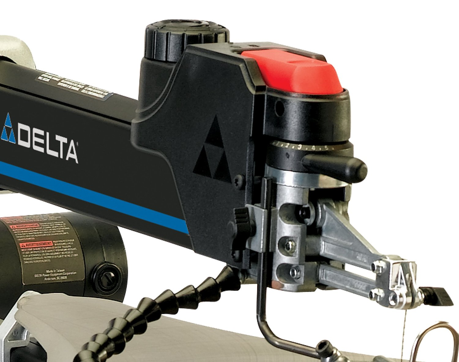 Delta scroll saw 40 694 review delta scroll saw the length of the machine is perfect and the work light provided illuminates a good radius without throwing any shadows greentooth